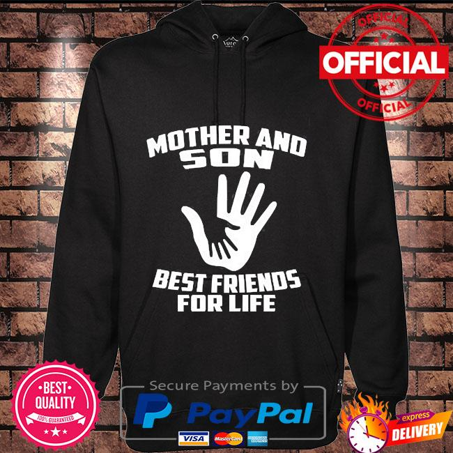 Mother and son best friends for life Hoodie black