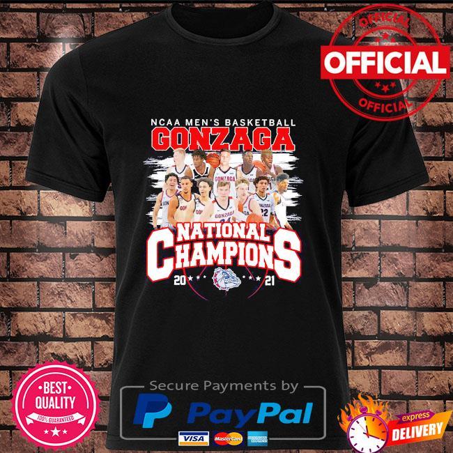 Ncaa men's basketball gonzaga national champions 2021 shirt