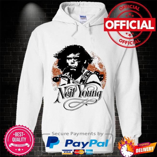 Neil young canadian rocker Hoodie white