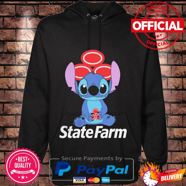 Official Baby stitch hug State Farm 2021 Hoodie black