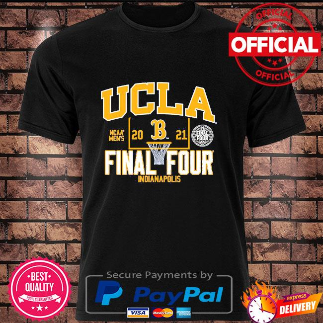 Official ucla bruins blue 84 youth 2021 ncaa men's basketball tournament march madness final four bound shirt