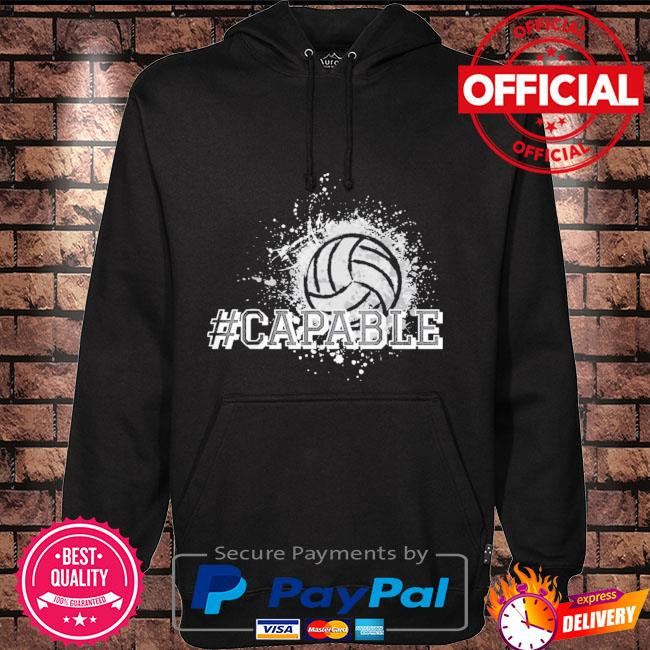 Official Volleyball #capable Hoodie black