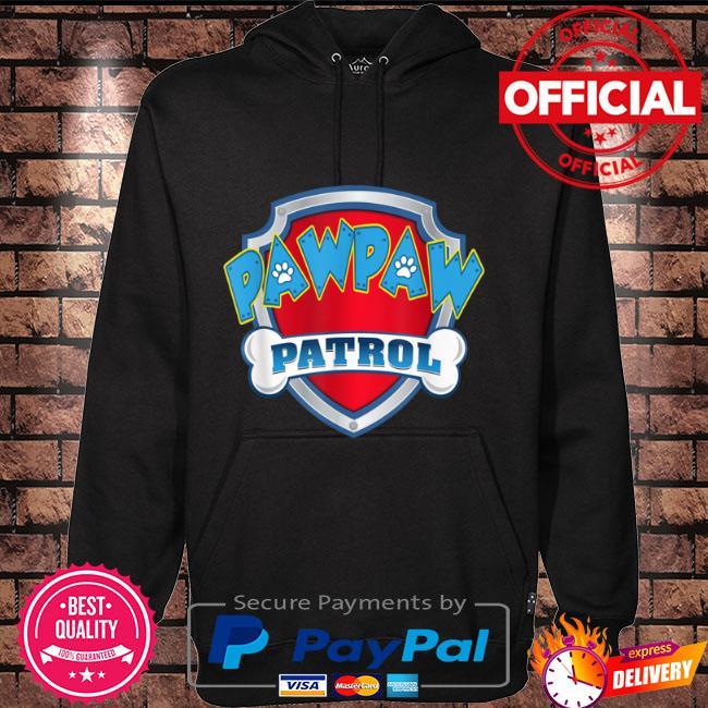Pawpaw patrol dog mom Hoodie black