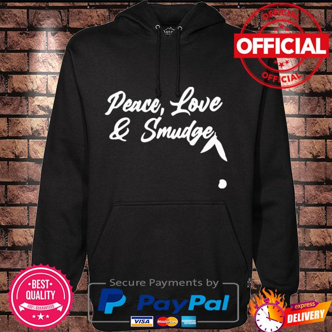 Peace love and smudge Hoodie black
