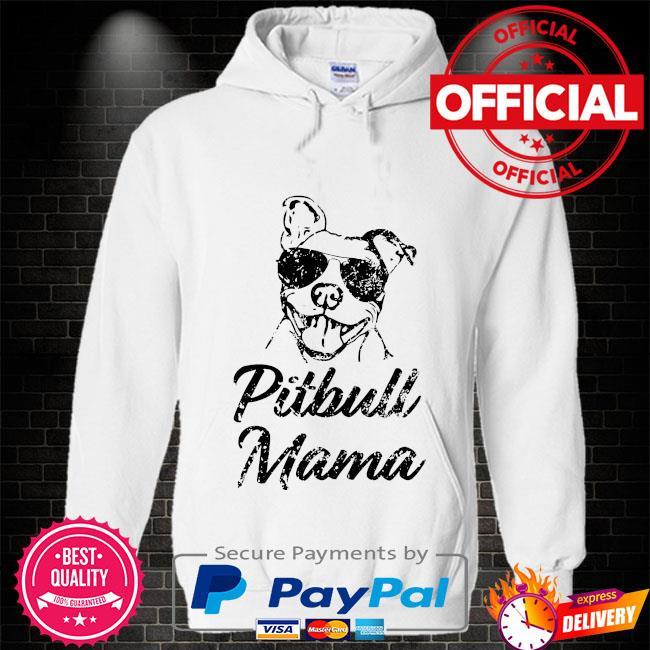 Pitbull Mom Hoodie white