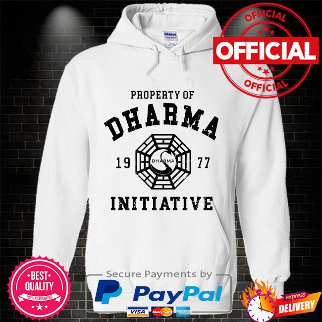 Property of dharma 1977 initiative Hoodie white