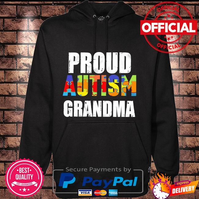 Proud autism grandma Hoodie black