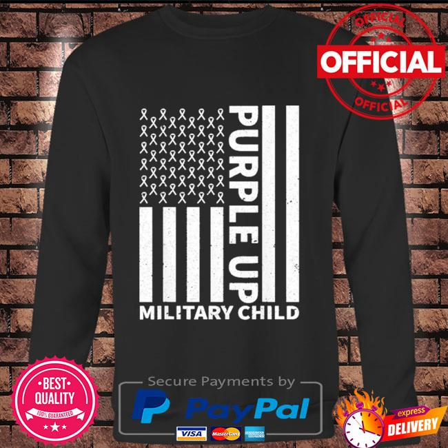 Purple up for military child military month Long sleeve black