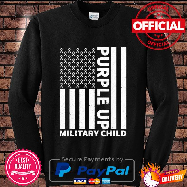 Purple up for military child military month Sweater black