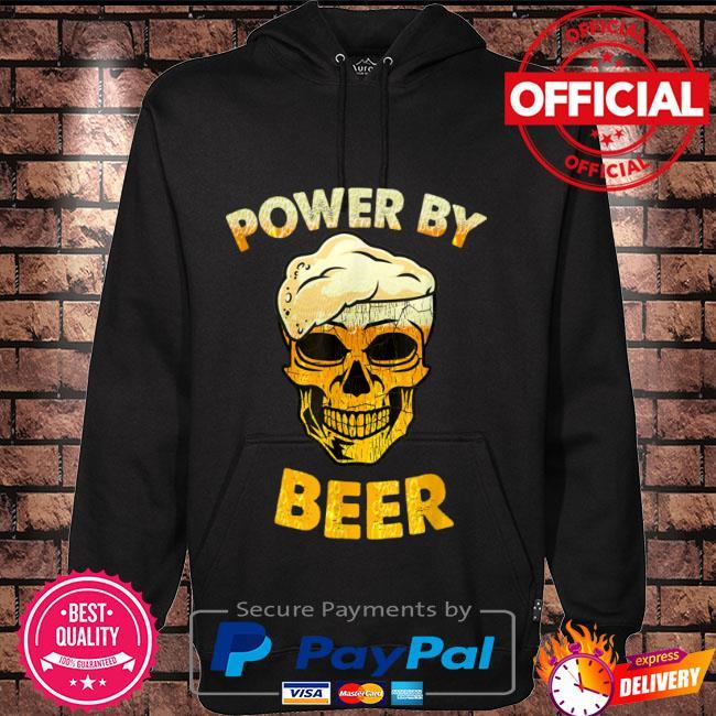 Skull Powered by beer Hoodie black
