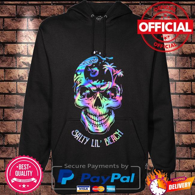 Skull salty Lil' beach Hoodie black