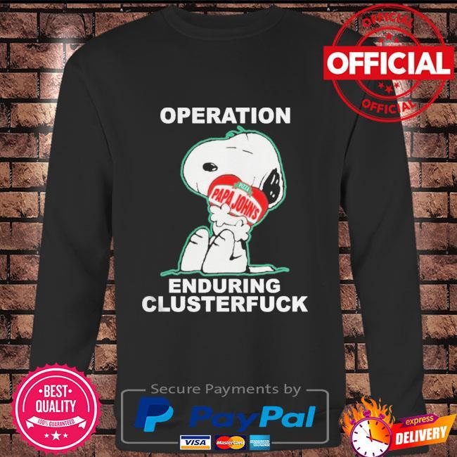 Snoopy operation papa john's enduring clusterfuck Long sleeve black