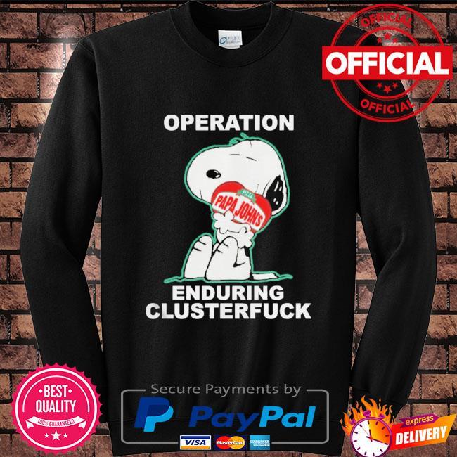 Snoopy operation papa john's enduring clusterfuck Sweater black