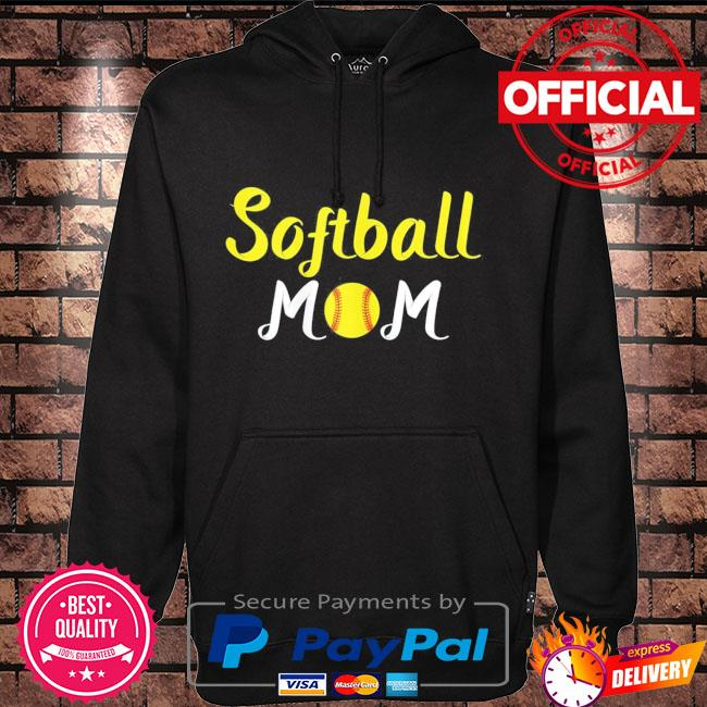 Softball momma baseball sport mothers day quote Hoodie black