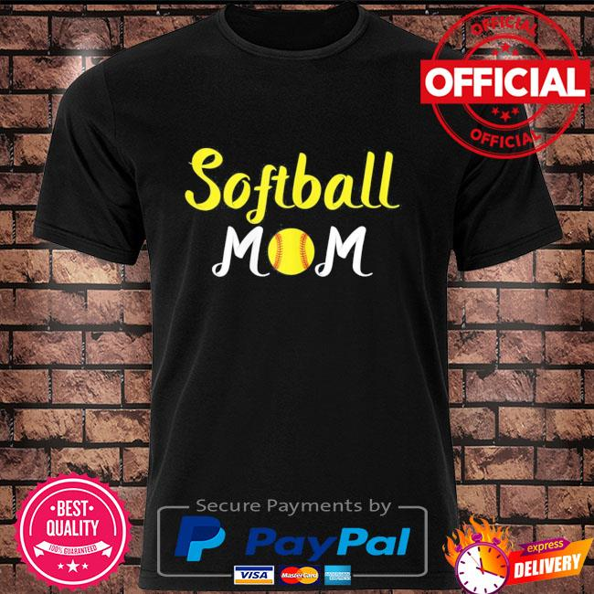 Softball momma baseball sport mothers day quote shirt