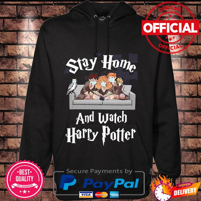 Stay at home and watch harry potter coronavirus Hoodie black