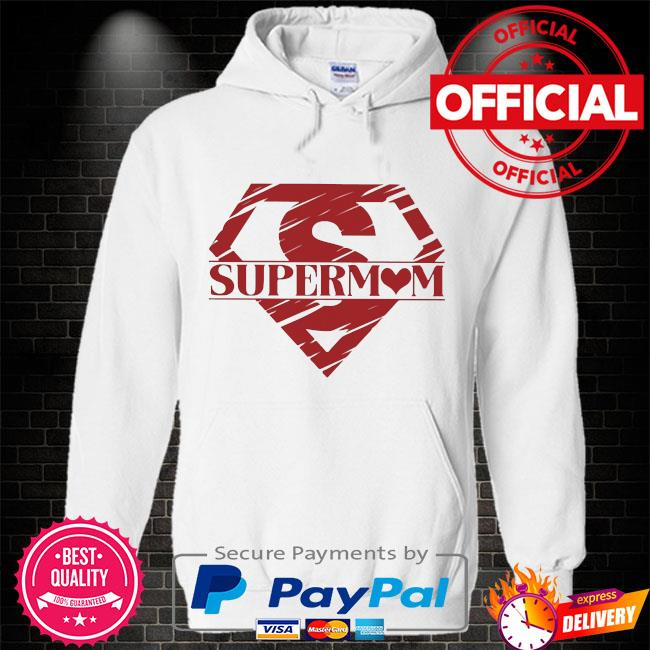 Superman super mom Hoodie white