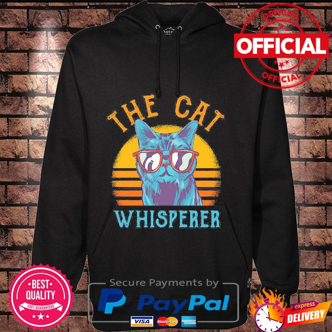 The Cat whisperer vintage Hoodie black