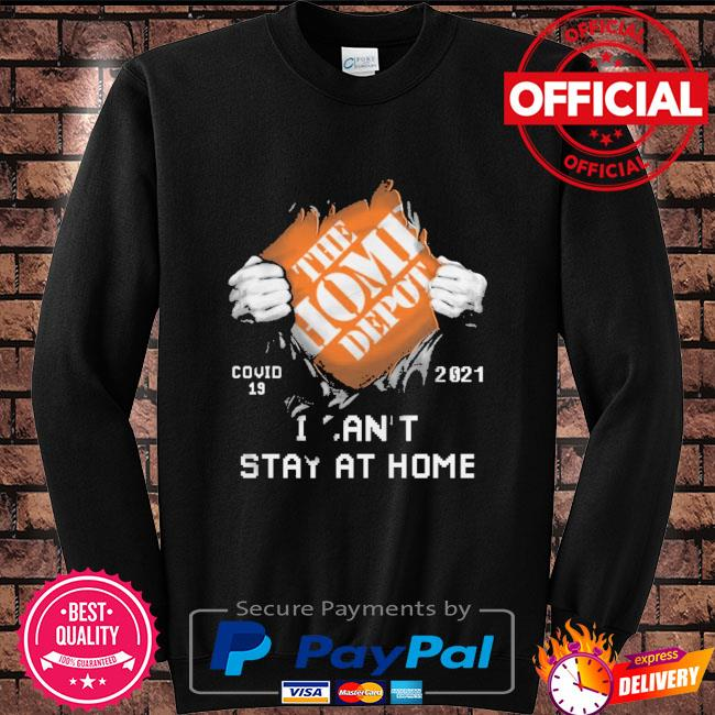 The Home Depot covid 19 2021 stay at home Sweater black