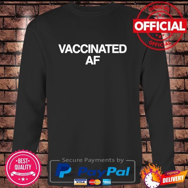 Vaccinated af Long sleeve black