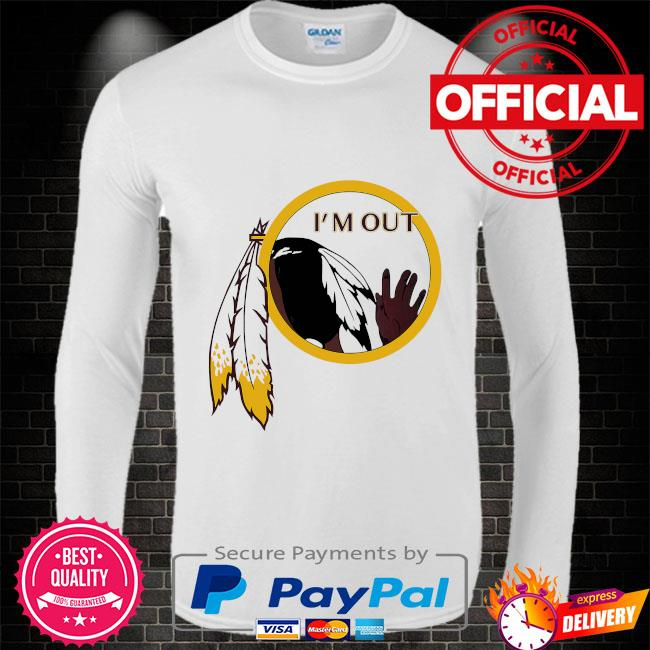 Washington Football Team's logo I'm out Long sleeve white
