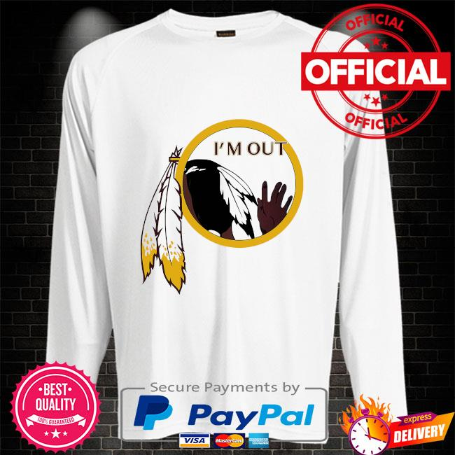 Washington Football Team's logo I'm out Sweater white