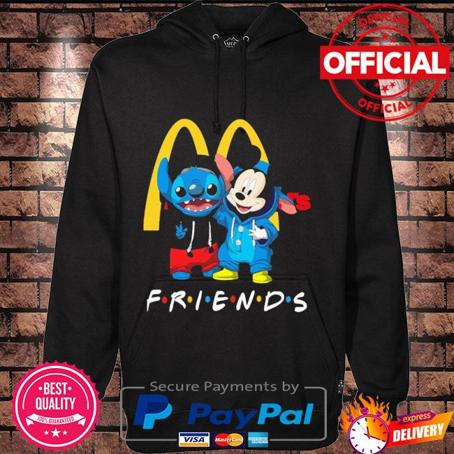 Baby Stitch and Mickey Mouse McDonald's Friends Hoodie black