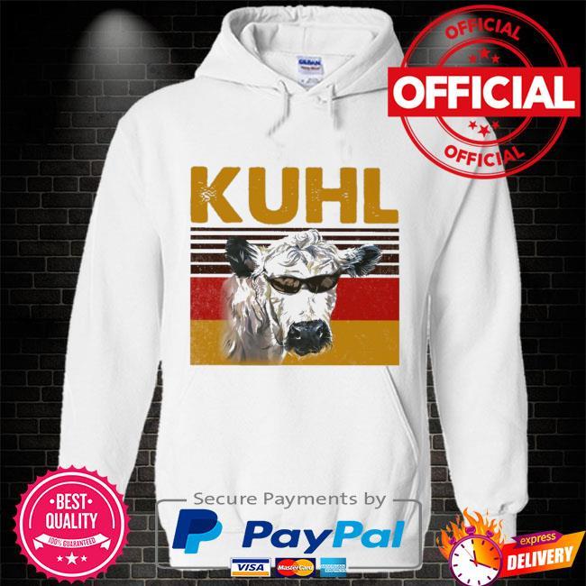 Cow Kuhl vintage Hoodie white