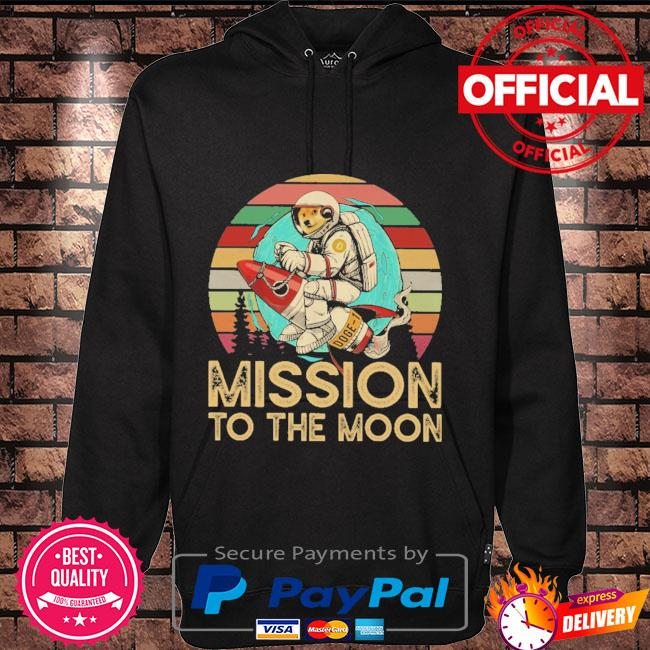 Dogecoin mission to the moon vintage Hoodie black