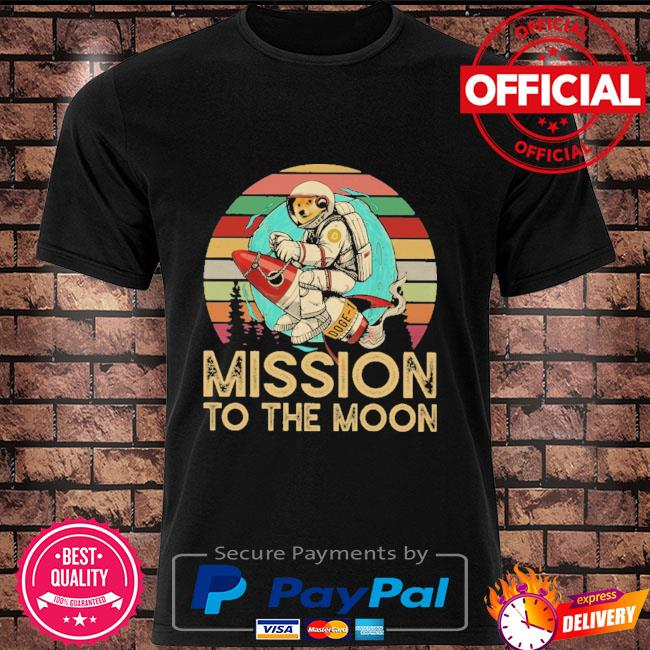 Dogecoin mission to the moon vintage shirt