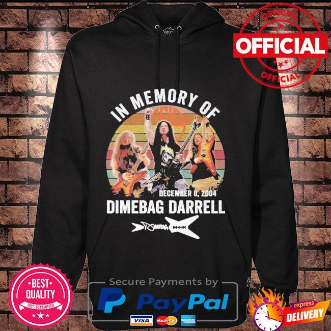 In memory of dimebag darrell signature vintage Hoodie black