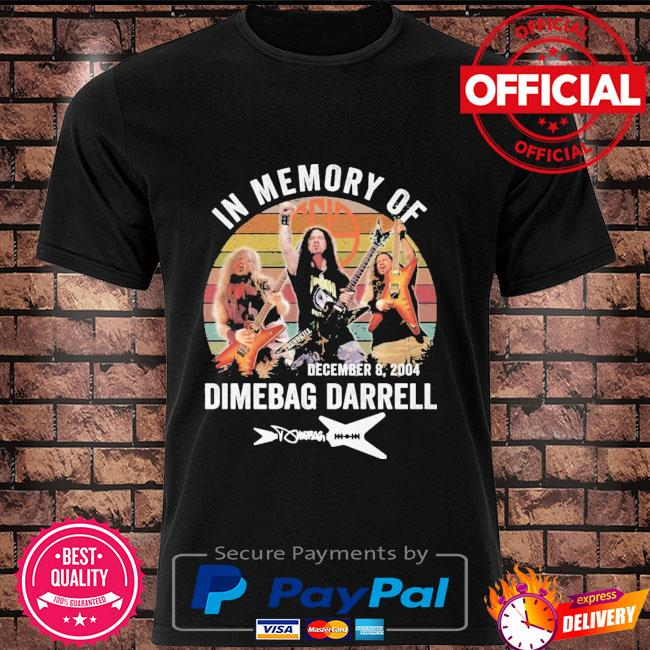 In memory of dimebag darrell signature vintage shirt