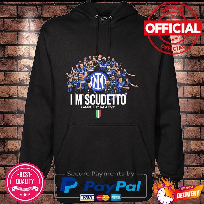 Inter Milan I'm Scudetto Campioni D'italia 2020 2021 Hoodie black