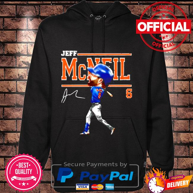Jeff mcneil 6 cartoon signature Hoodie black