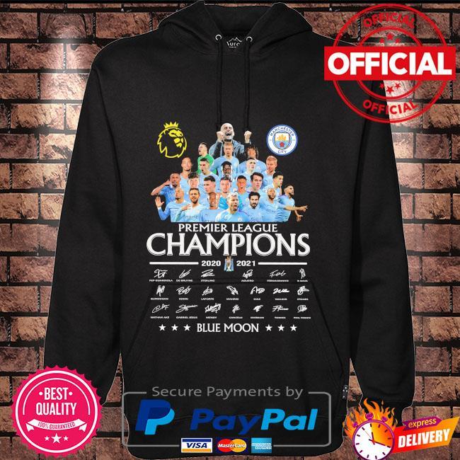 Manchester City premier league champions blue moon signatures Hoodie black