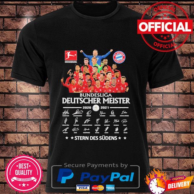 Official FC Bayern Munchen deutscher meister 2020 2021 stern des sudens shirt
