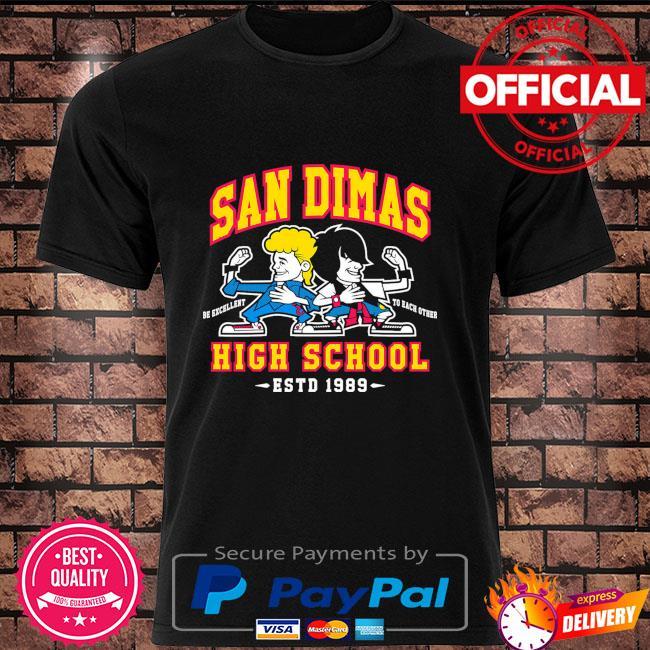 Official San Dimas be excellent to each other high school estd 1989 shirt