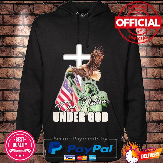One Nation Under God Statue of Liberty Hoodie black