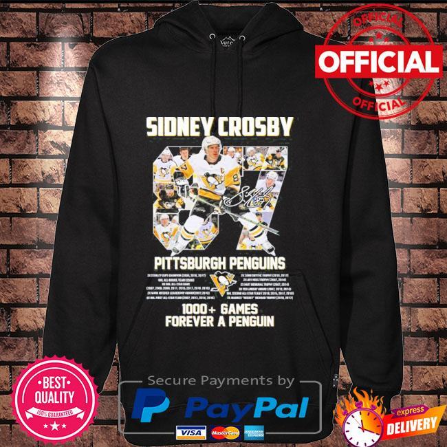 Original 87 sidney crosby Pittsburgh penguins 1000 games forever a penguins Hoodie black