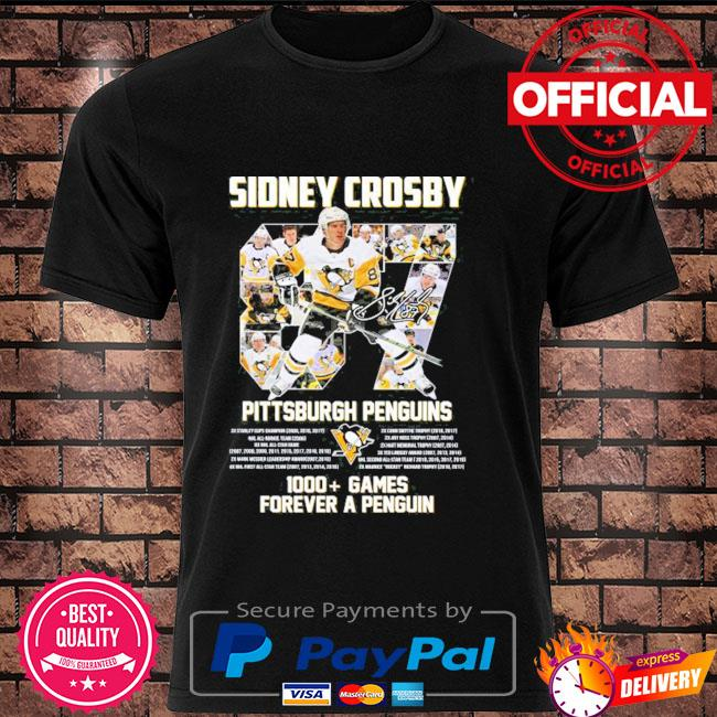 Original 87 sidney crosby Pittsburgh penguins 1000 games forever a penguins shirt