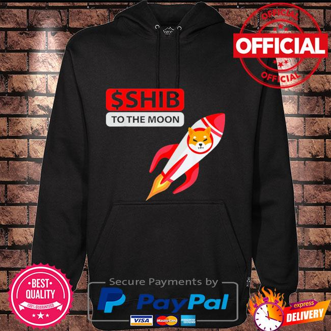 Rocket shiba coin shirt $shib to the moon shiba inu crypto Hoodie black