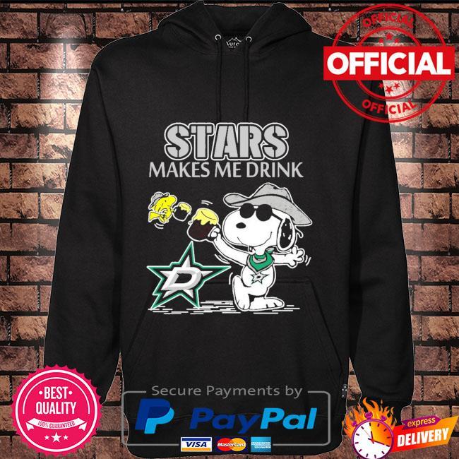 Snoopy Dallas stars make me drink Hoodie black