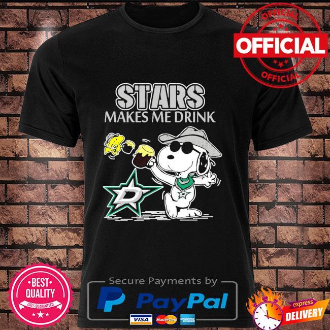 Snoopy Dallas stars make me drink shirt