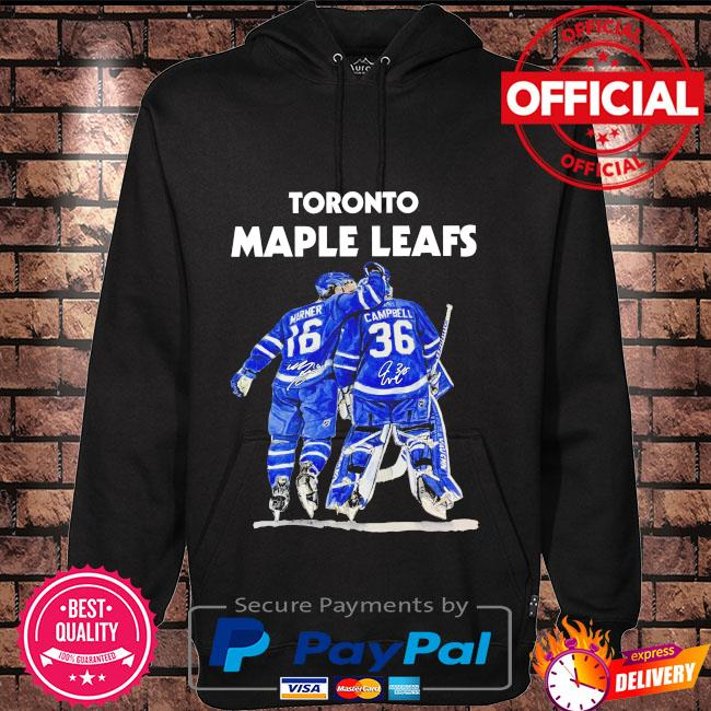 Toronto Maple Leafs 16 Marner 36 Campbell signatures Hoodie black