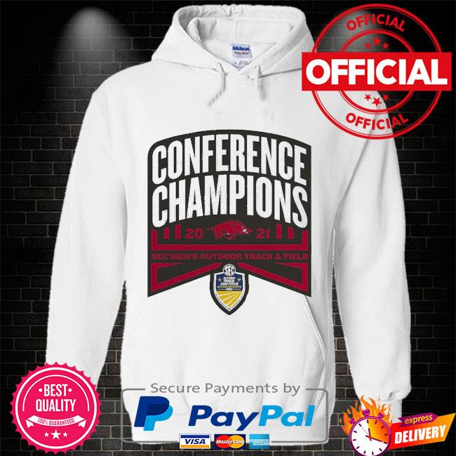 Arkansas Razorbacks conference champions 2021 sec men's outdoor track and field Hoodie white
