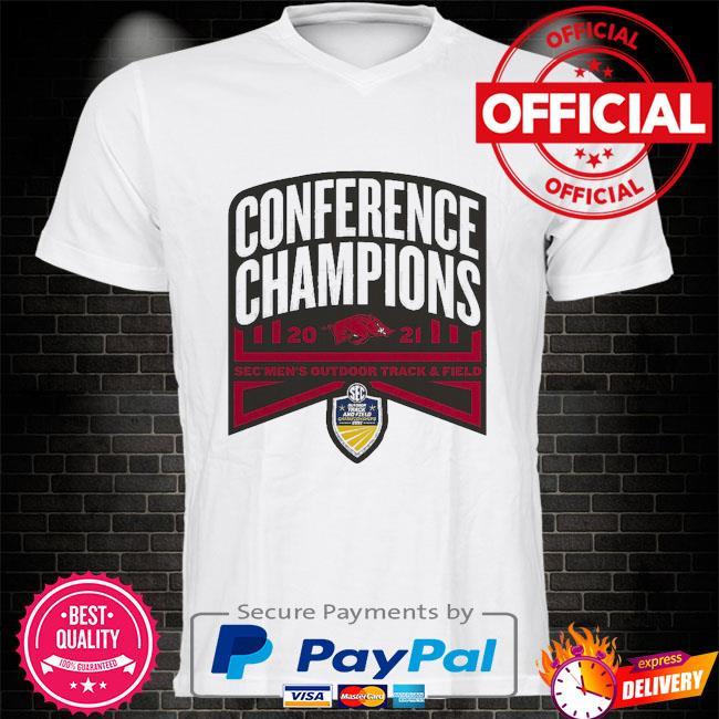 Arkansas Razorbacks conference champions 2021 sec men's outdoor track and field shirt