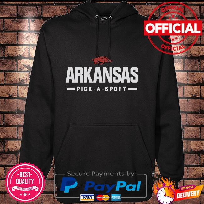 ArKansas Razorbacks custom sport wordmark Hoodie black
