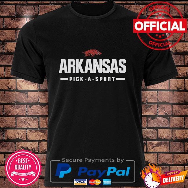 ArKansas Razorbacks custom sport wordmark shirt
