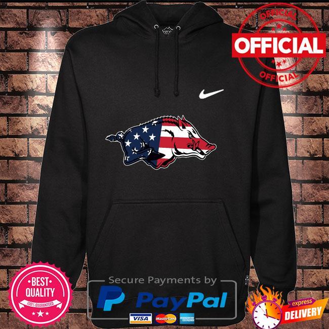 ArKansas razorbacks legend American flag Hoodie black
