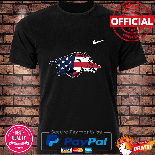 ArKansas razorbacks legend American flag shirt